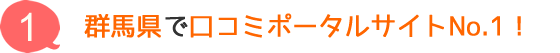 群馬県で口コミポータルサイトNo.1!