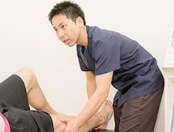 捻挫への施術